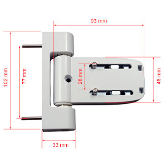 NEON 3D T FLAG DOOR HINGE | LOCKFINDER